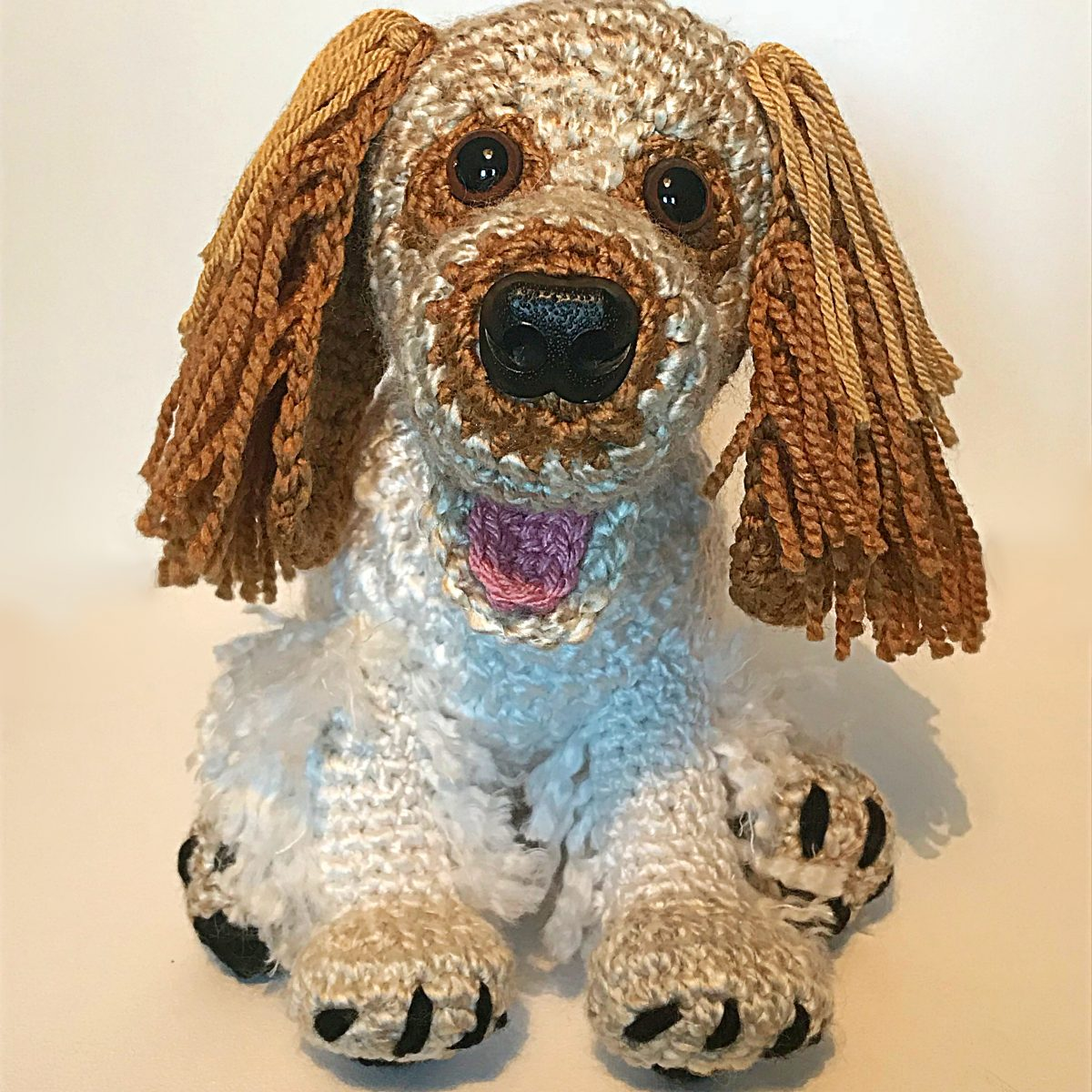 Handmade Crochet Spaniel - Barney the Orange Roan Springer Spaniel