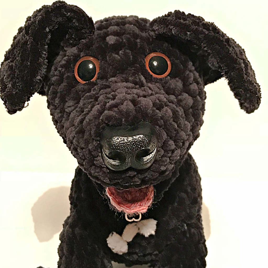 Five more Lovingly Handmade Creations - Odie the Black Labrador Dalmation Cross