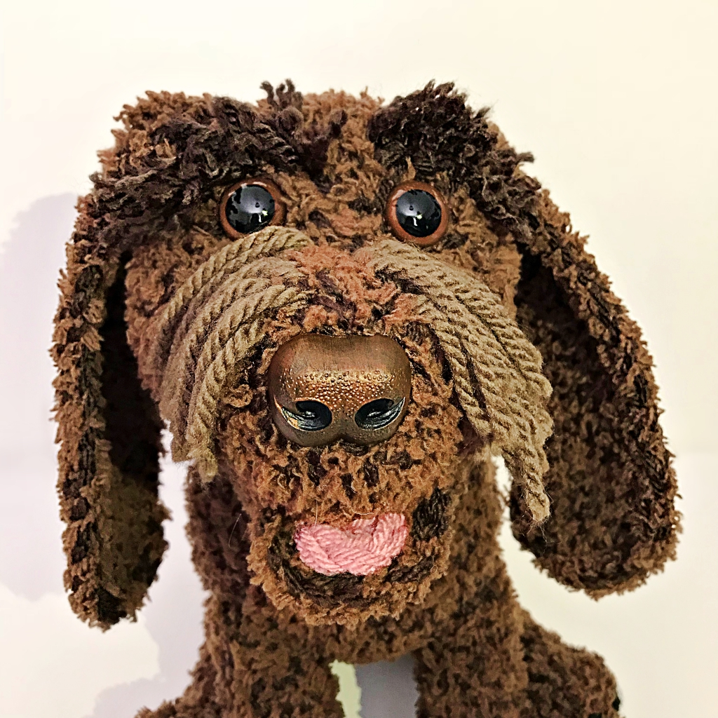 Beautiful Wintry Creations - Archie the Chocolate Brown Cockapoo