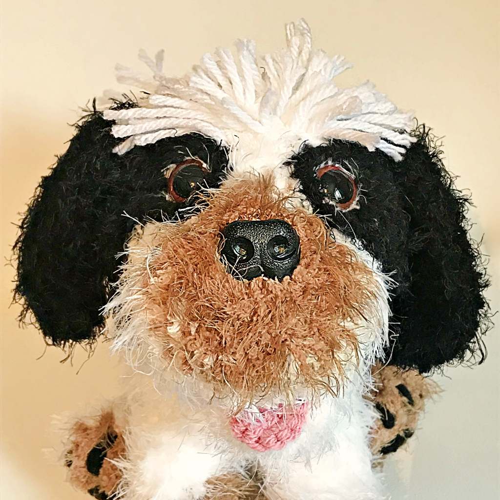 Another Plushy Trio - Zachary the Shihtzu - Maltese Cross