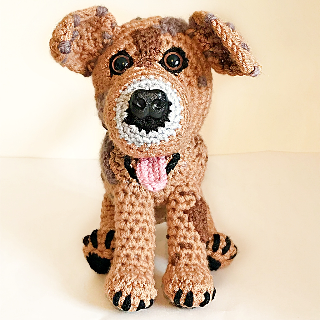 Seven New Pet Plushies - Phoebe the Catahoula Mix Bull Arab