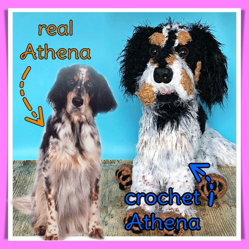 Athenas the English Setter - Standard Pet Cuddly Toy