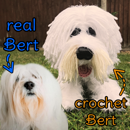 Bert the Tibetan Terrier - Standard Pet Cuddly Toy