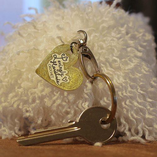 Bichon Frise Pet Head Keyring