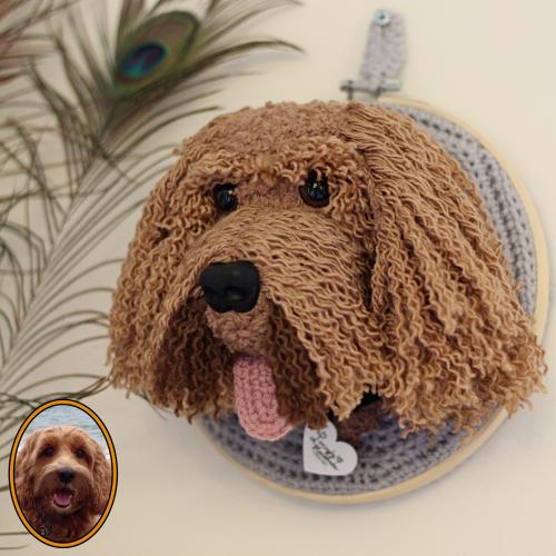 Cockapoo - Pet Plush Trophy Head
