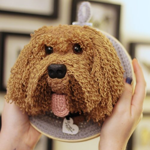Cockapoo Trophy Head