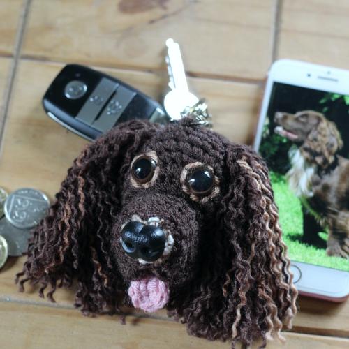 Spaniel Pet Head Keyring