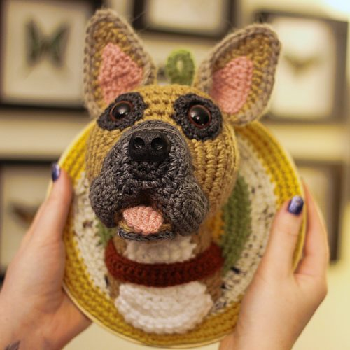 French Bulldog Trophy Head