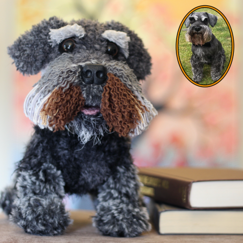 Henry the Schnauzer - Standard Pet Cuddly Toy