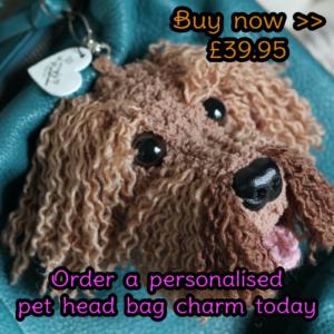 Personalised Pet Head Bag Charm