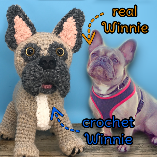 Winnie the French Bulldog - Standard Pet Cuddly Toy